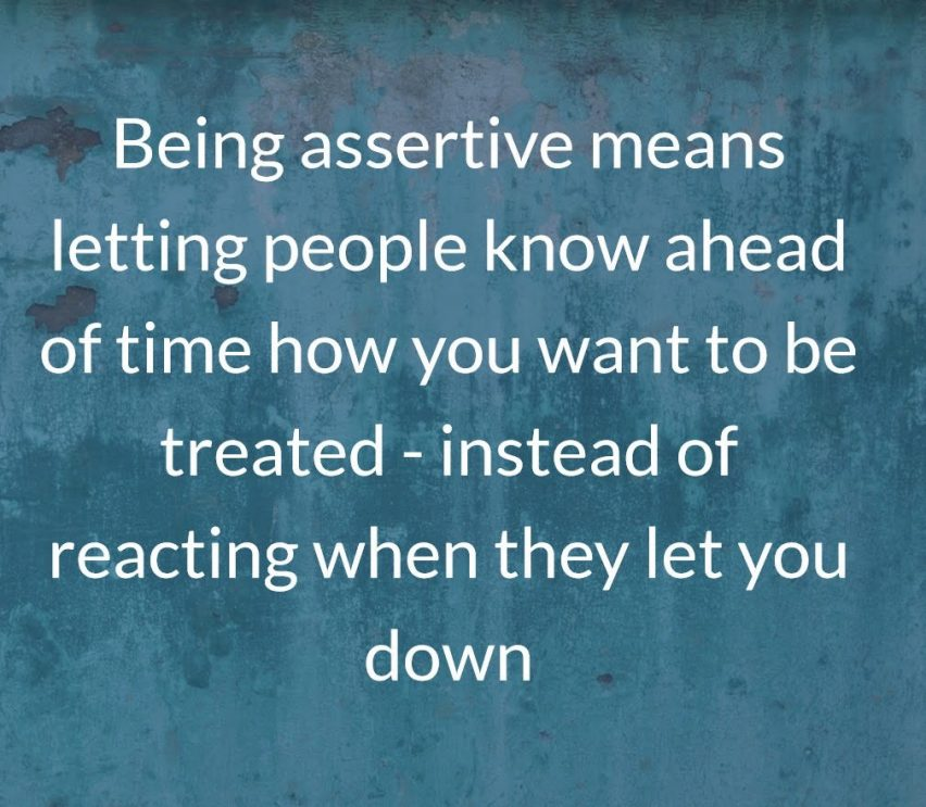 Being Assertive Intentional